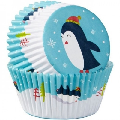 Wilton Cupcake Cups Pinguins 75st.