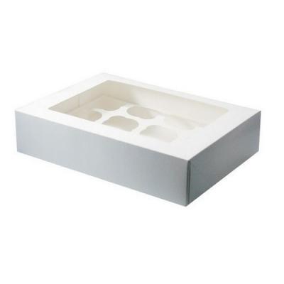Cupcake Doosje 12 blank per stuk - tijdelijk uitverkocht