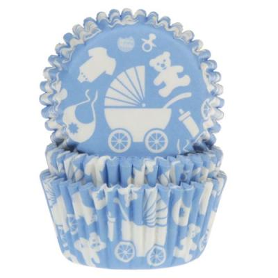 Cupcake Cups Baby Blauw 50st.