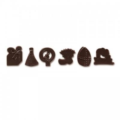 Chocolade decoratie Sinterklaas 6x2 st.